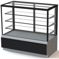Кондитерская витрина холодильная Carboma ВХСв-1,3д Cube Люкс Техно