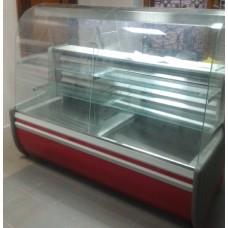 Витрина холодильная кондитерская ВХК Орбита 1,2 выгнутое стекло